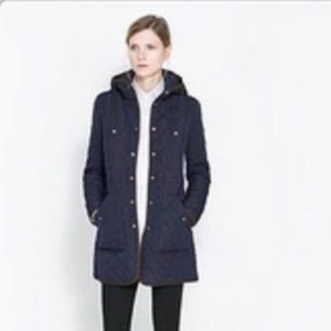 NWT Zara quilted coat